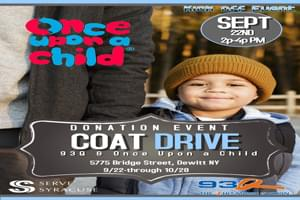 Once Upon A Child's Coat Drive Kick Off Event