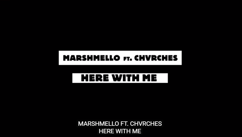 Rick's Pick – Marshmello – Here With Me Feat. CHVRCHES