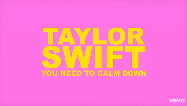 """Rick's Pick – Taylor Swift – """"You Need To Calm Down"""""""