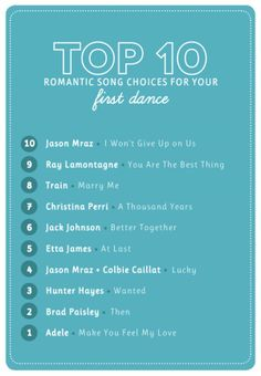 The 10 Most Popular First Dance Wedding Songs 104 1 Krbe Krbe Fm