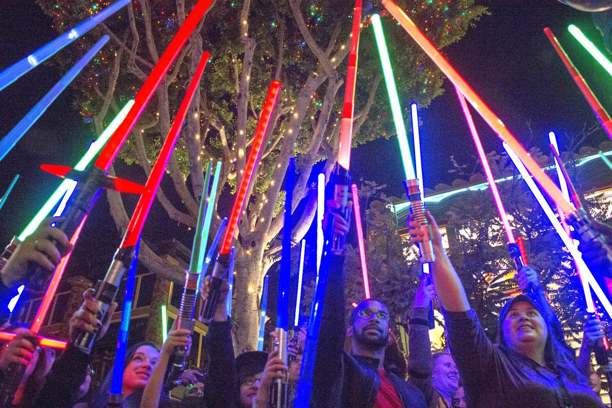watch lightsaber tribute to princess leia at disneyland 1041 krbe krbe fm