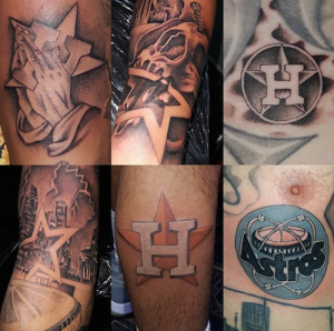 Tattoo artist sees spike in astros inspired tattoos 104 for World series tattoo
