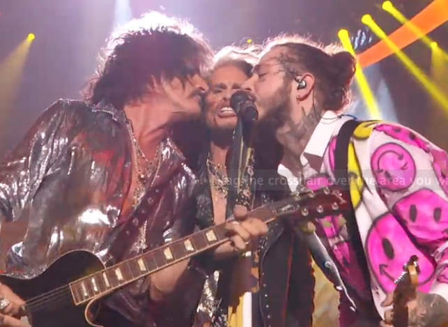 ICYMI: Post Malone Joined By Aerosmith On The MTV VMA Stage