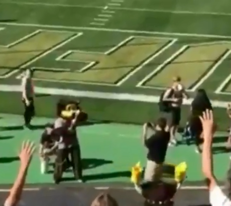 Mascot Shoots Himself In The Groin