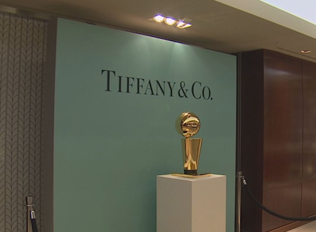 Rockets Replica Championship Trophies On Display