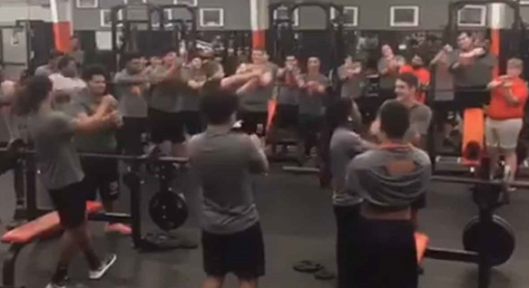 Texas City Football Team Performs 'Baby Shark' Dance For Coach's Daughter