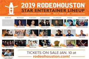 RodeoHouston 2019 Star Entertainer Lineup