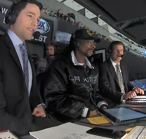 Snoop Dogg Provides Commentary During Hockey Game