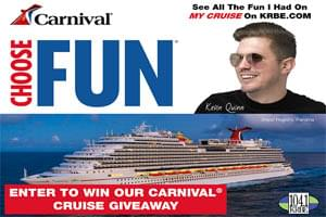Win a 7-day cruise aboard a Carnival® Cruise Line ship  for you & one guest