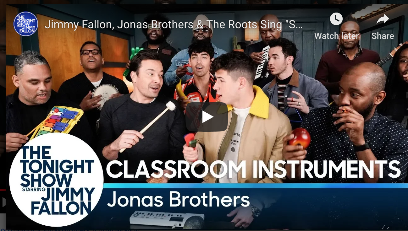 WATCH: The Jonas Brothers and Jimmy Fallon Rock Out to 'Sucker' with Classroom Instruments