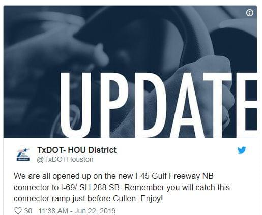 FINALLY! I-45 to 59 is open after 6 month closure