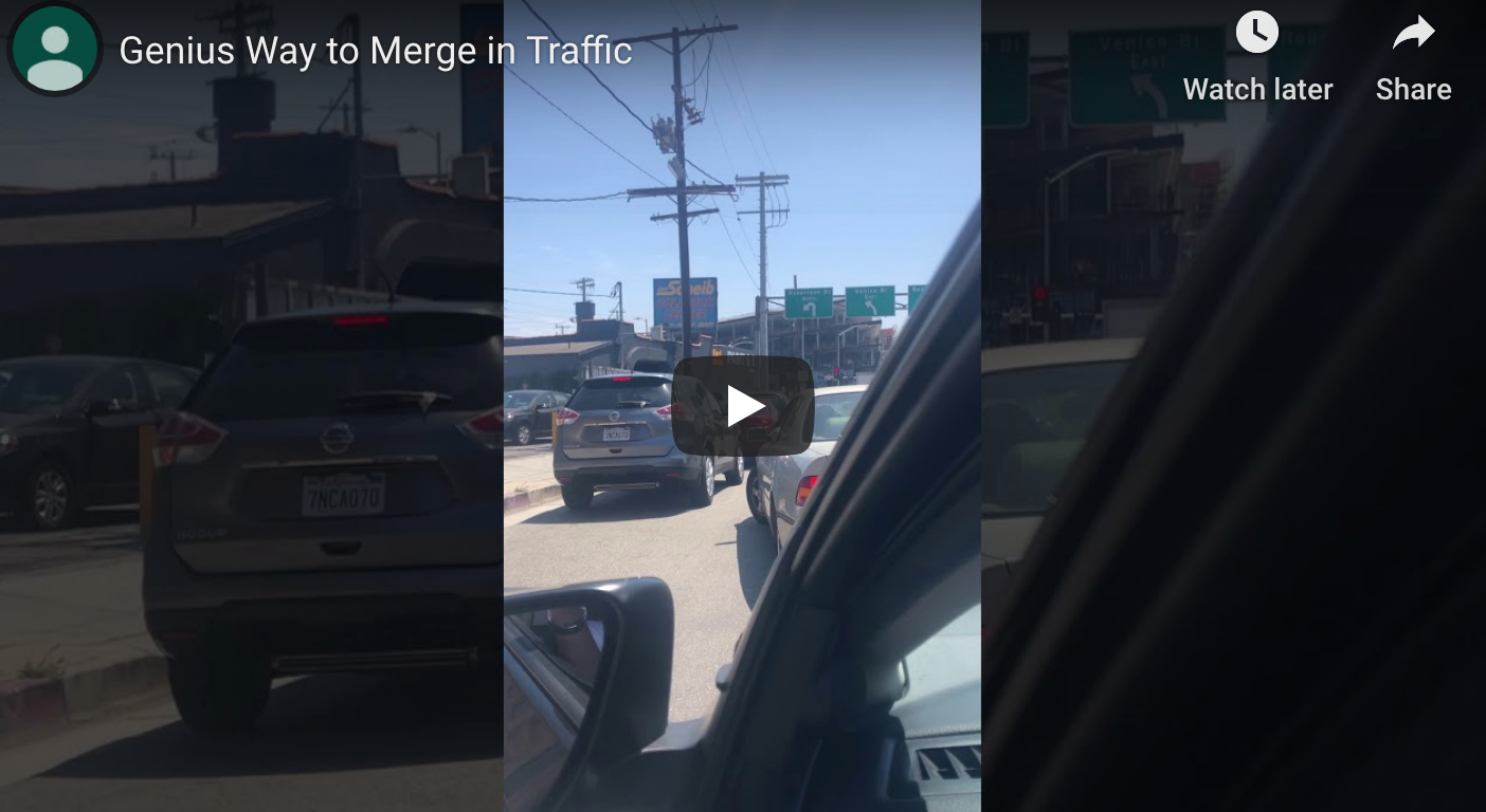 WATCH: LA Driver Invents Clever Traffic Hack