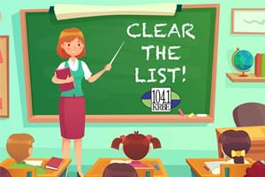 KRBE's Clear The List