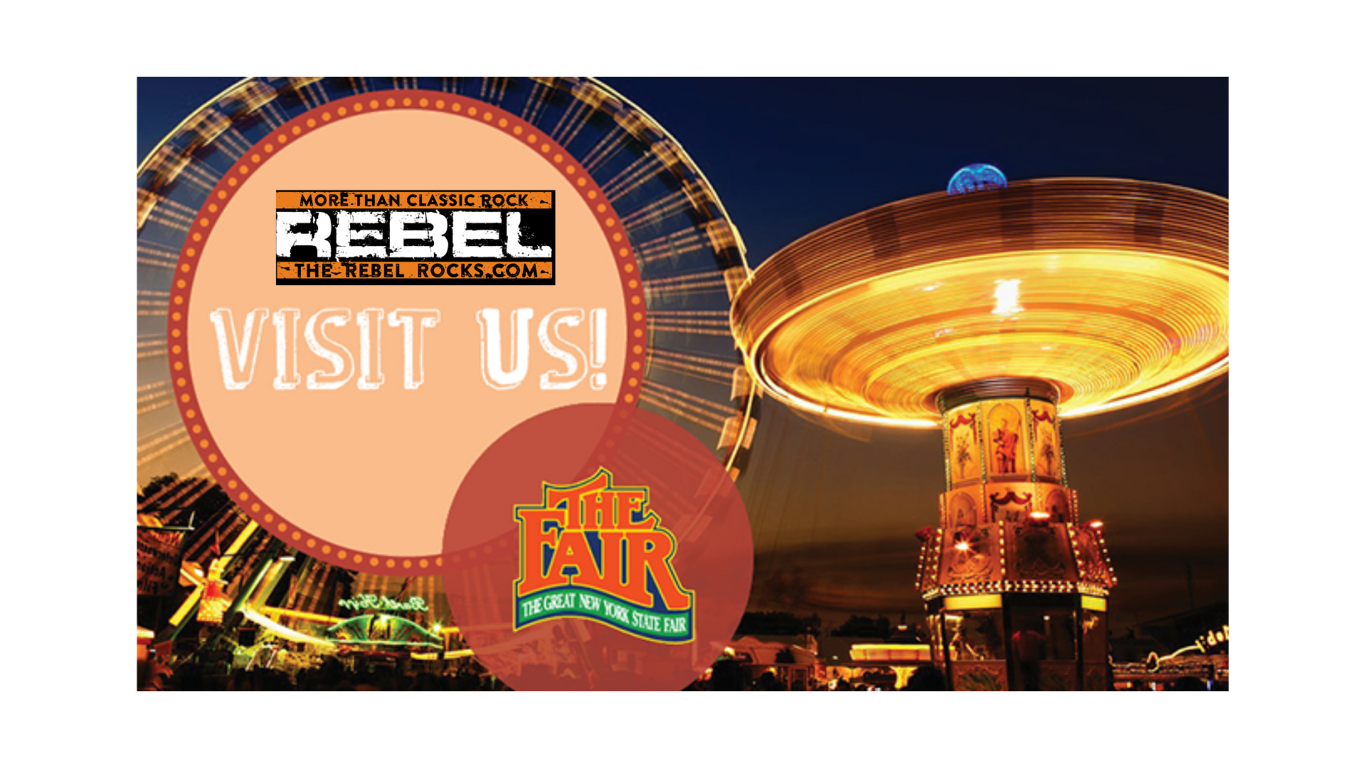 Join The Rebel at the 2019 NYS Fair!