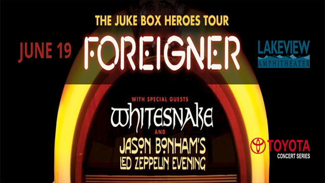 Foreigner w/ Whitesnake @ St. Joseph's Health Amphitheater at Lakeview | June 19th