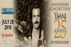Yanni @ St. Joseph's Health Amphitheater at Lakeview | July 28th