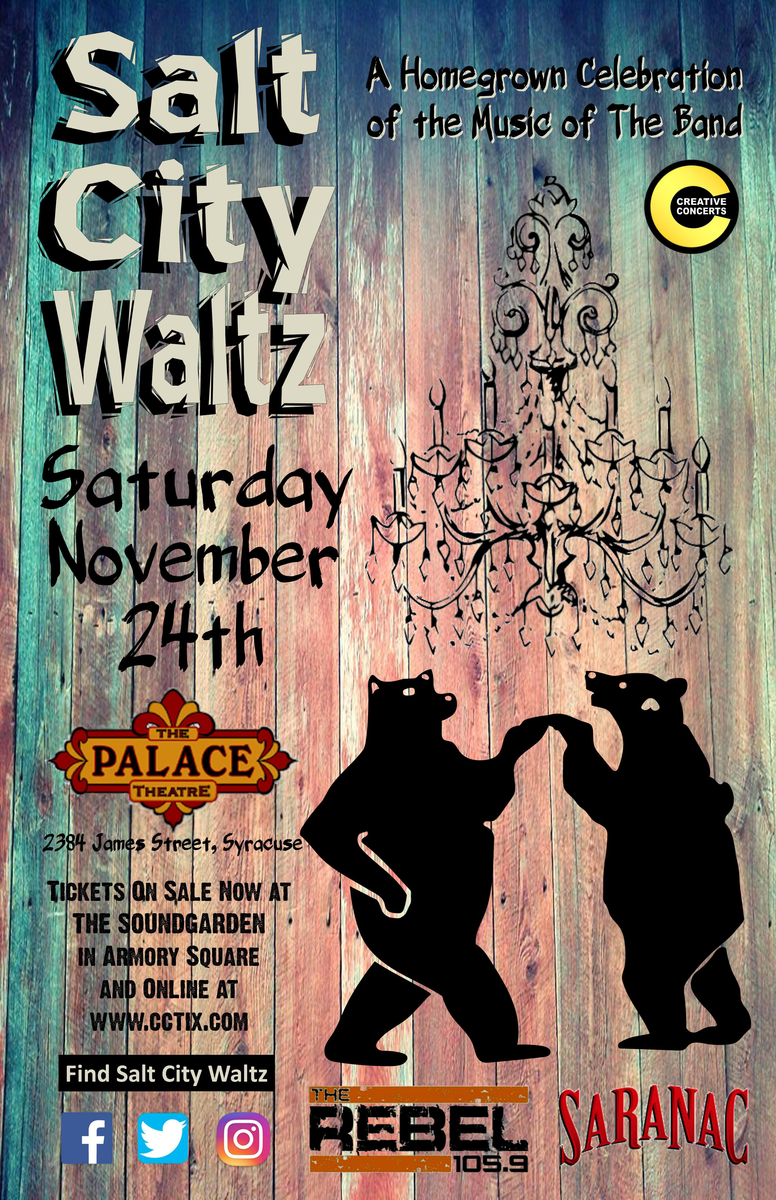 The Salt City Waltz returns to the Palace Theater on Nov. 24th!