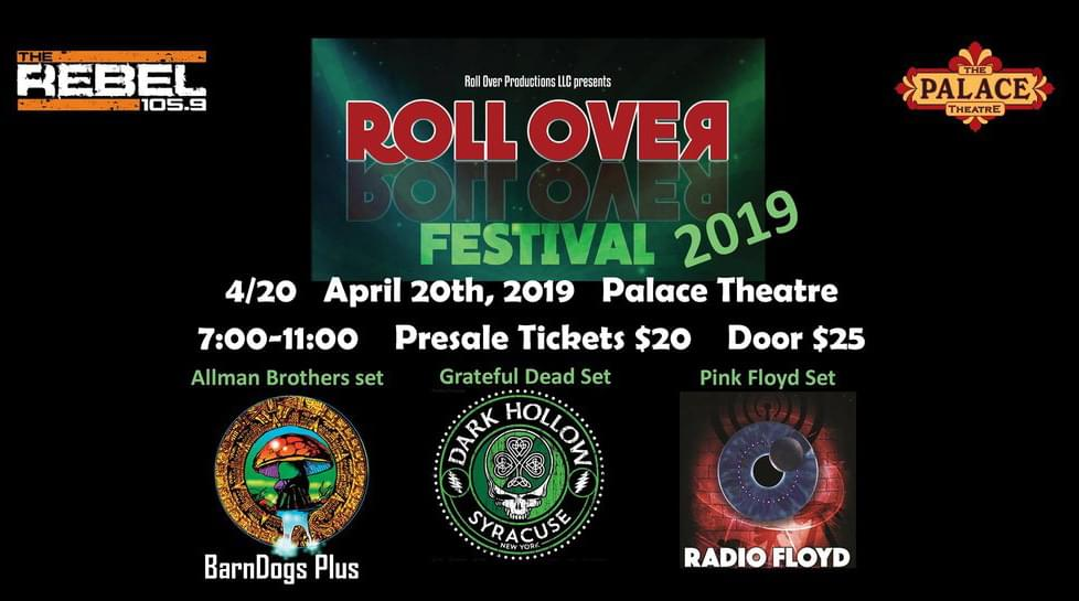 Roll Over Fest 19 at the Palace Theater on 4/20!