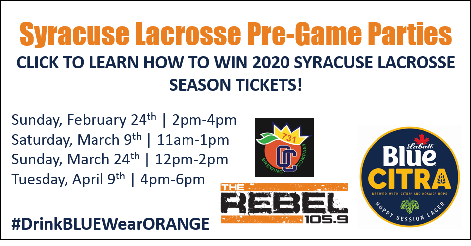Syracuse Lacrosse Pre-Game Parties @ Orange Crate Brewing Company!