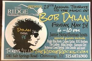 Tribute to Bob Dylan: May 24th at the Ridge!
