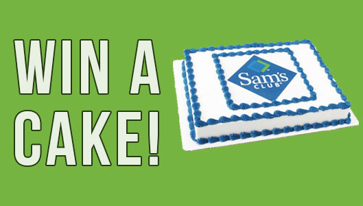 Enter To Win A Complimentary Sam's Club Cake!