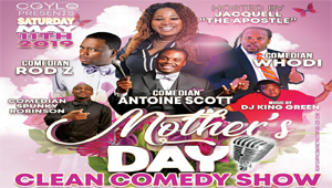 WIN Tickets to the Mother's Day Clean Comedy Show!