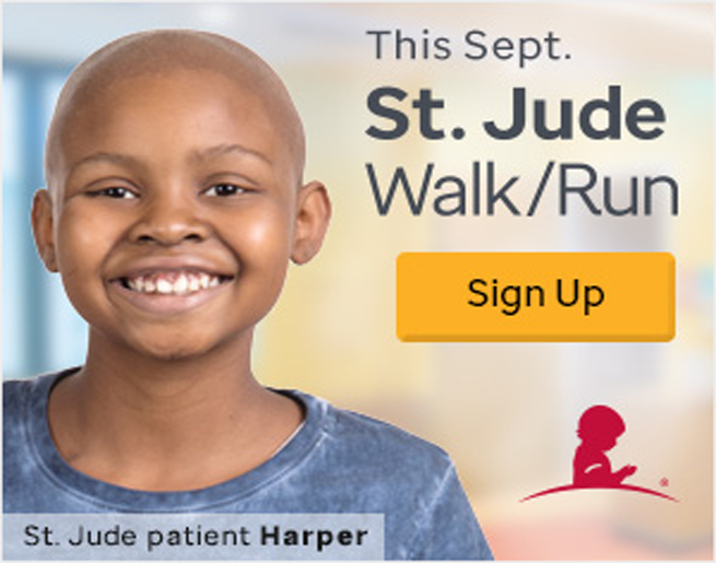 Let's End Childhood Cancer Together. St. Jude Walk/Run Tallahassee.