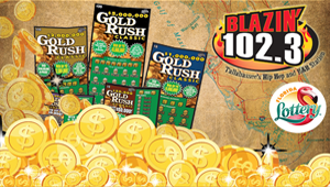 Listen to WIN a book of Florida Lottery scratch-off tickets worth $300!