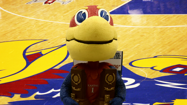 KU Jayhawk's Big Jay Bobblehead is Back in a Limited Edition #RockChalk