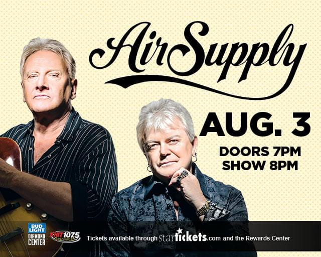 8/3: Air Supply at The Diamond Center