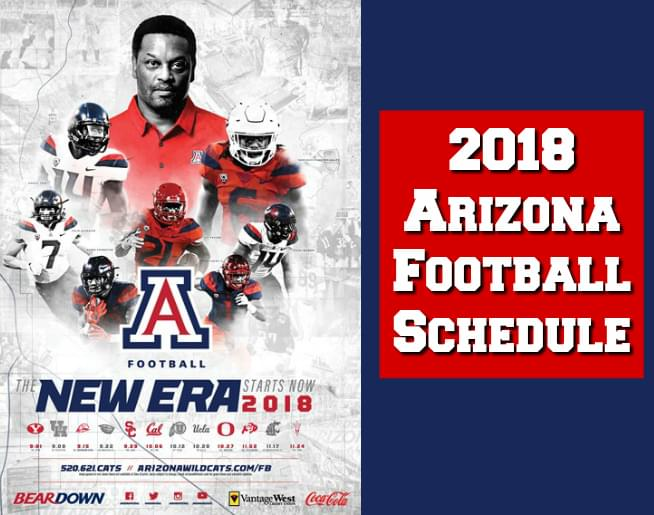 2018 Arizona Football Schedule