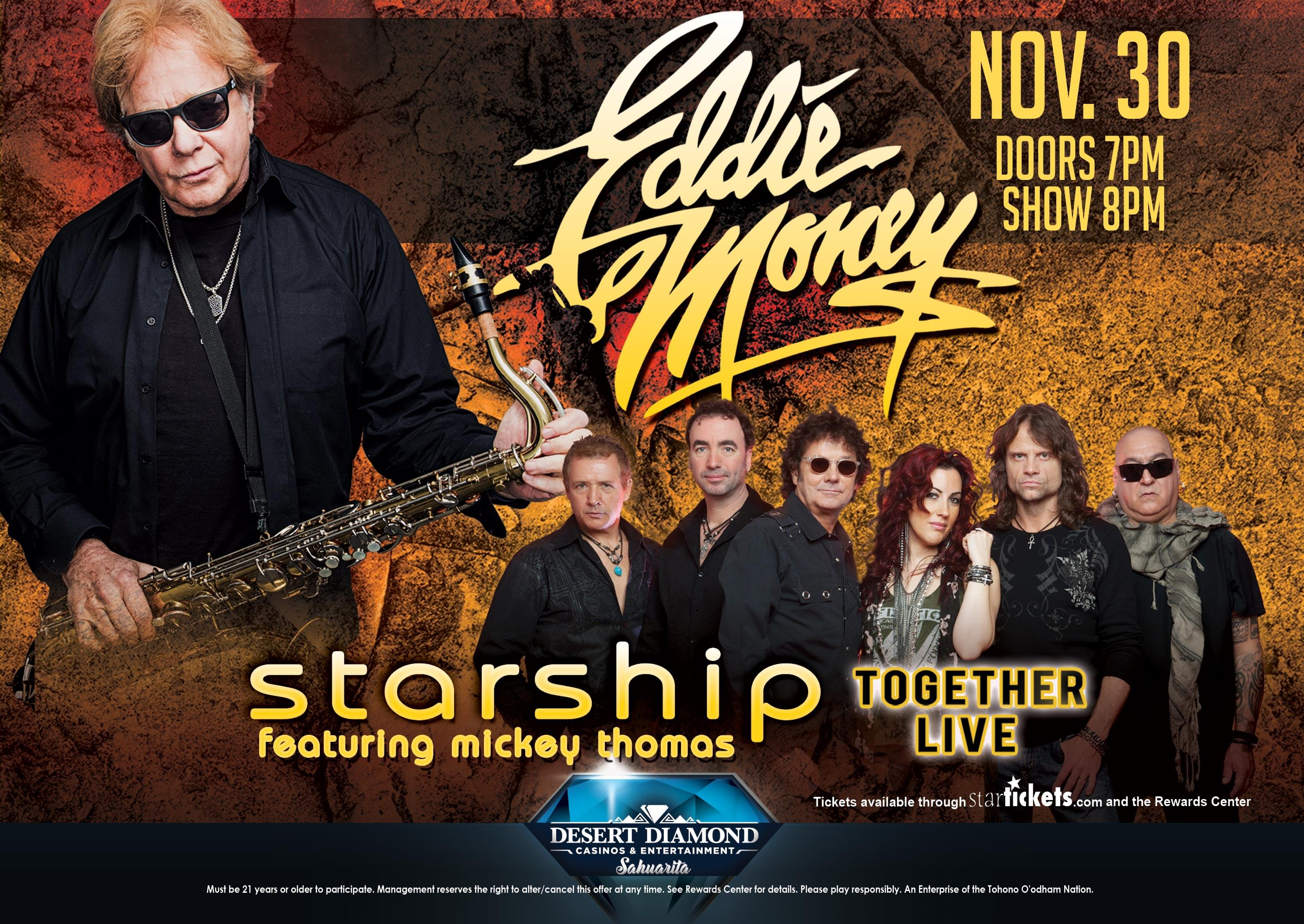 11/30: Eddie Money at The Diamond Center