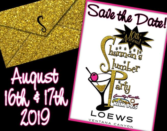 10th Annual Shannon's Slumber Party – SAVE THE DATE
