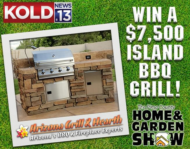 Win a $7500 Island BBQ with Grill at the Pima County Home and Garden Show!