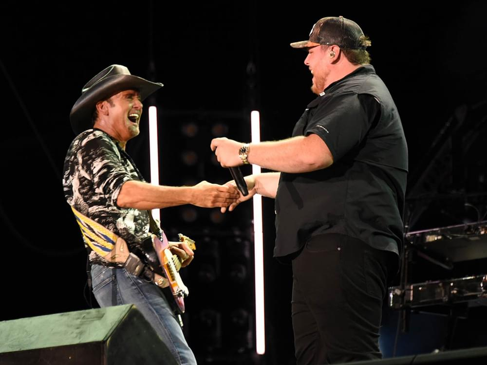 """Watch Luke Combs Team With Tim McGraw on """"Real Good Man"""" at CMA Fest"""