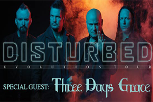 Disturbed with Three Days Grace