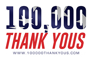 100,000 Thank Yous!