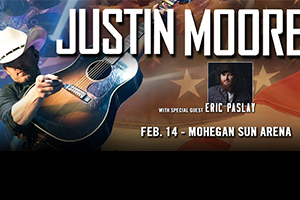 Justin Moore at the Mohegan Sun Arena