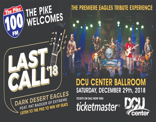 """I'ts the PIKE """"End of Year Party"""" with the Dark Desert Eagles Sat. Dec 29th at the DCU Center Ballroom!"""