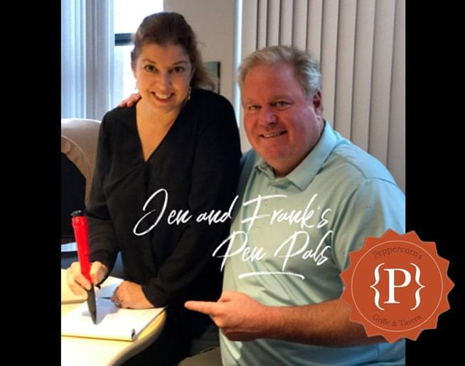 Jen and Frank's Pen Pals:  Win lunch from Peppercorns