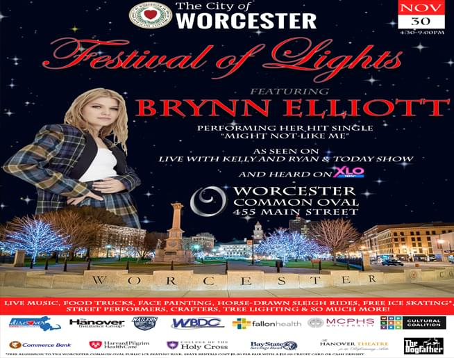 Jen & Frank chat with Amy Peterson from City Hall about Worcester Common Oval Festival of Lights