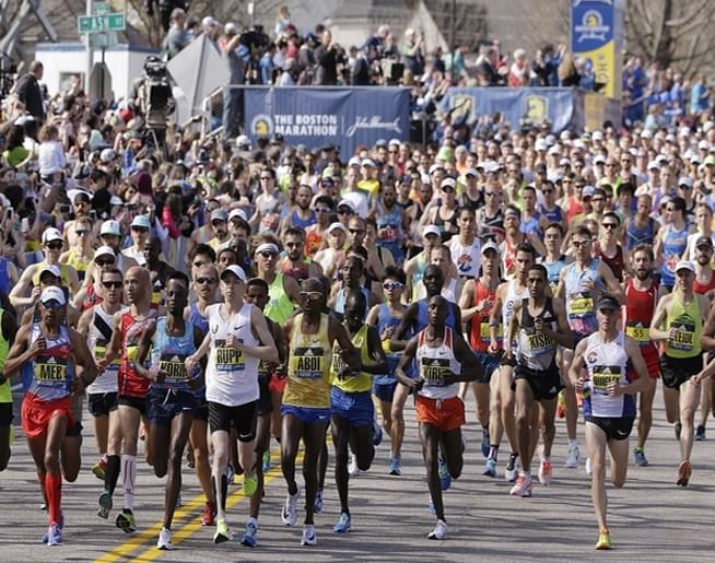 Jen & Frank chat with Dave – runner #1045 in this year's Boston Marathon!