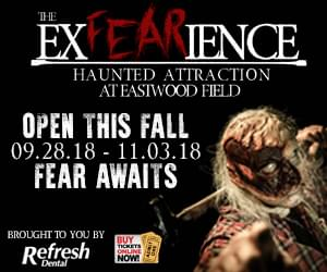 THE EXFEARIENCE HAUNTED ATTRACTION AT  EASTWOOD FIELD. GET TICKETS NOW!!!