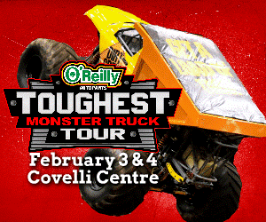Toughest Monster Truck at Covelli Feb 3rd and 4th 2014