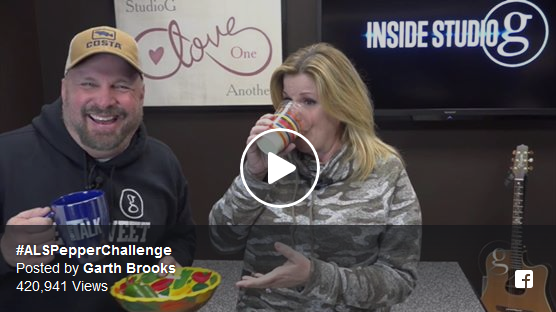 Garth Brooks and Trisha Yearwood Take ALS Pepper challenge