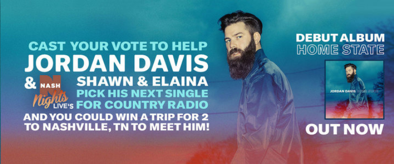 Jordan Davis Needs Your Vote and You Could Win a Trip for 2 to Nashville