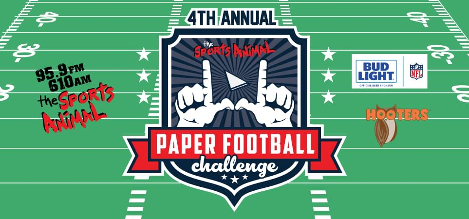 4th Annual Sports Animal Paper Football Challenge