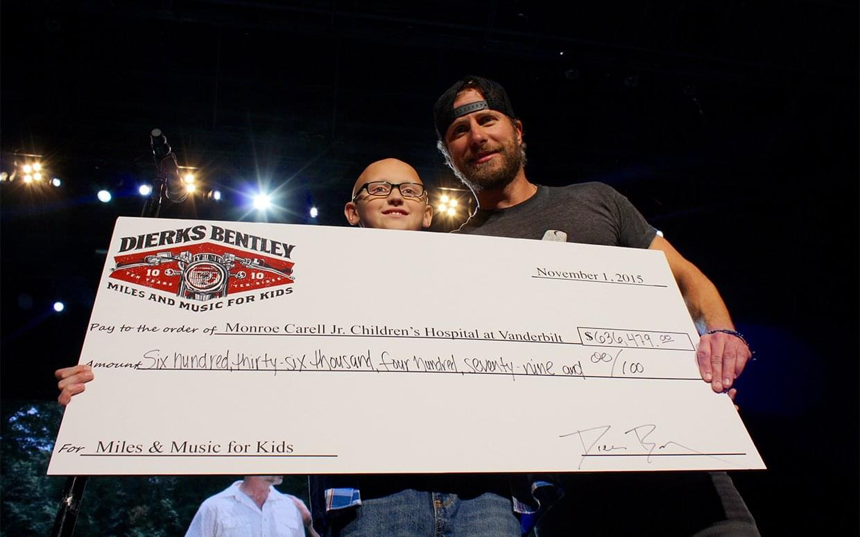 Dierks Bentley's Miles & Music Raises Big $$ To Help Kids