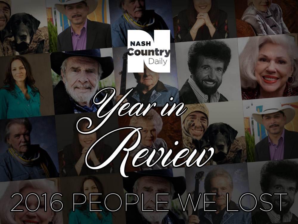 Year in Review: Country Stars We Lost in 2016