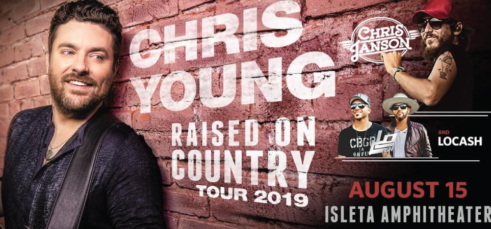 Chris Young, Chris Janson & LOCASH | August 15, 2019